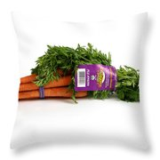 Organic Carrots Throw Pillow