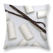 Organic Marshmallows With Vanilla Throw Pillow