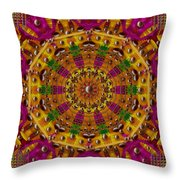 Orient Sun In Fantasy Style Throw Pillow
