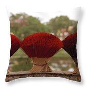 Oriental Hue Throw Pillow