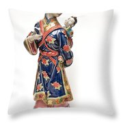 Oriental Lady And Child Throw Pillow
