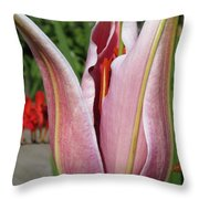 Oriental Lily Named La Mancha Throw Pillow