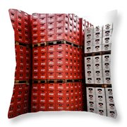 Original Budweiser Shipping Out Throw Pillow by Kirsten Giving