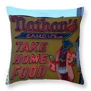 Original Nathan's Throw Pillow