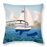 Coronado Sailin' - Memoryscape Throw Pillow