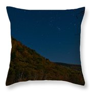 Orion Over Mt. Crawford Throw Pillow