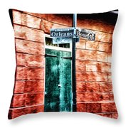 Orleans And Bourbon Streets Throw Pillow