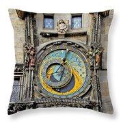 Orloj - Prague Astronomical Clock Throw Pillow