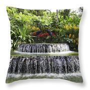 Ornamental Attraction Opposite The Entrance Of The National Orch Throw Pillow