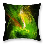 Ornate Emerald Green Drop Throw Pillow