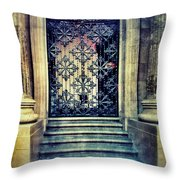 Ornate Entrance Gate Throw Pillow