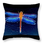 Ornate Odonata Throw Pillow