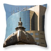 Ornate Old And Plain New Throw Pillow