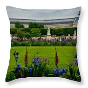 Orsay From The Tuileries Throw Pillow