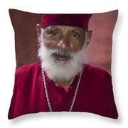 Orthodox Priest Of Addis Ababa Throw Pillow