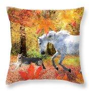 Osada's Fall Fun Throw Pillow