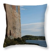 Oslo Castle And Harbor Throw Pillow