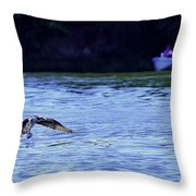 Osprey Cleaning The Lake  Throw Pillow