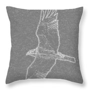 Osprey In Flight Embossed Throw Pillow