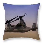 Osprey In Flight II Throw Pillow