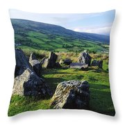 Ossians Grave, Co Antrim, Ireland Stone Throw Pillow