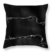 Other Side Of The Fence Throw Pillow by Bob Orsillo