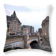 Ottawa Night View Throw Pillow