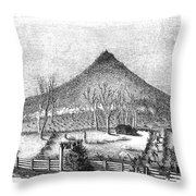 Otter Mountain, Virginia Throw Pillow