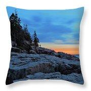 Otter Point At Dawn Throw Pillow