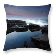 Otter Point Reflections II Throw Pillow