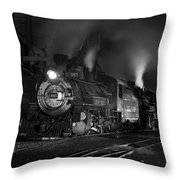 Our Best Side Black And White Throw Pillow