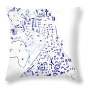 Our Lady Of Africa Throw Pillow