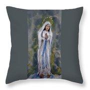 Our Lady Of Lourdes 2 Throw Pillow