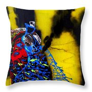 Our Lady Star Of The Sea Throw Pillow