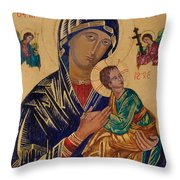 Our Mother Of Perpetual Help Throw Pillow
