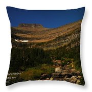 Our Mountains Throw Pillow