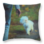 Out For A Stroll Throw Pillow by Karol Livote