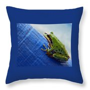 Out From Under The Blue Tarp Throw Pillow