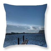 Out Into The Bay Throw Pillow