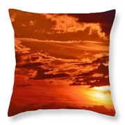 Out My Door Throw Pillow