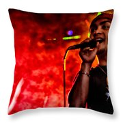 Out Of A Fiery Fog Throw Pillow