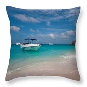 Out Of Border. Maldives Throw Pillow