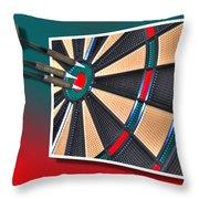 Out Of Bounds Bullseye Throw Pillow