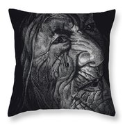 Out Of Greaheadedness Wisdome Comes Forth Throw Pillow by Yenni Harrison