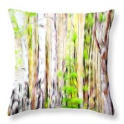 Out Of One Many Fractal Throw Pillow