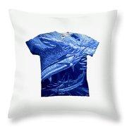 Out Of Sight Mens Blue Shirt Throw Pillow