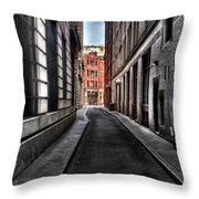 Out Of The Alley Throw Pillow