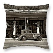 Out Of The Past Sepia Throw Pillow