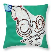 Out Of The Trap Throw Pillow