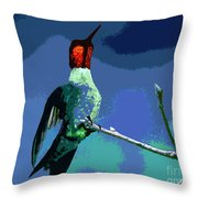 Out On A Limb - Blue Throw Pillow